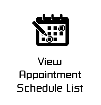 View Appointment Schedule List